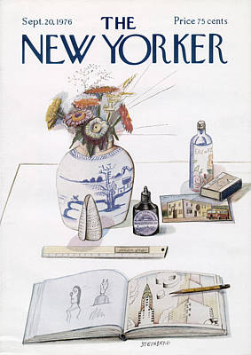 New Yorker September 20th, 1976 Art Print by Saul Steinberg