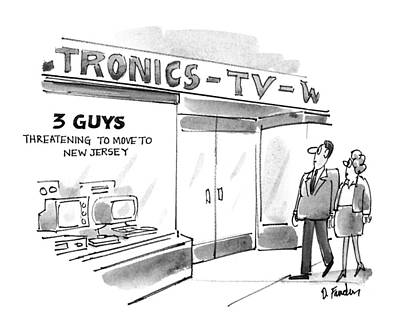 Electronics Drawing - New Yorker September 20th, 1993 by Dana Fradon