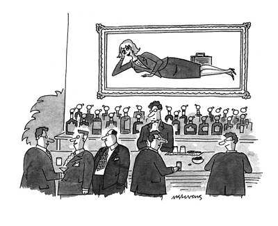 Reclining Drawing - New Yorker September 20th, 1993 by Mick Stevens