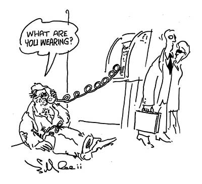 Beggars Drawing - New Yorker September 20th, 1999 by Bill Le