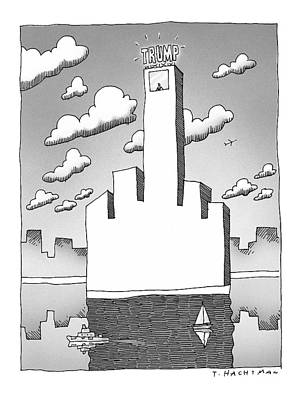 Landscape Drawing - New Yorker September 20th, 1999 by Tom Hachtman