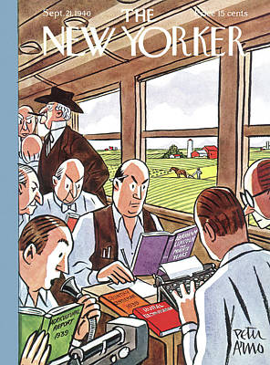 With A Story Painting - New Yorker September 21st, 1940 by Peter Arno