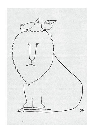 New Yorker September 21st, 1957 Art Print by Saul Steinberg