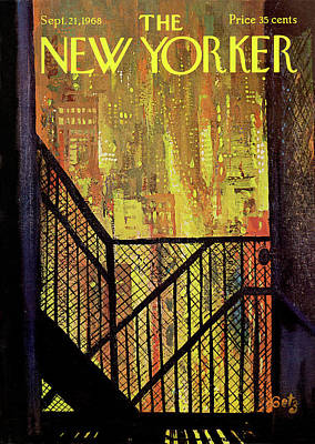 Escape Painting - New Yorker September 21st, 1968 by Arthur Getz