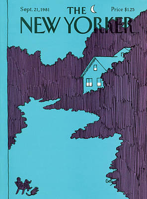 Night Painting - New Yorker September 21st, 1981 by Arthur Getz