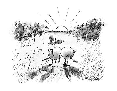 Sunrise Drawing - New Yorker September 21st, 1987 by Mischa Richter