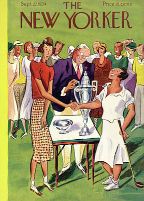 Golf Painting - New Yorker September 22nd, 1934 by Harry Brown