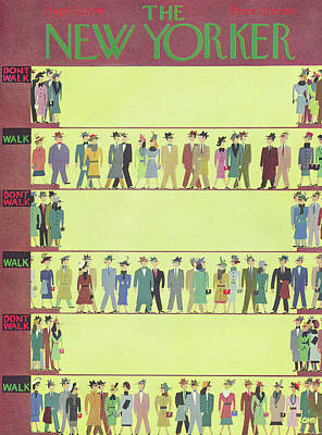 Crosswalk Painting - New Yorker September 22nd, 1956 by Charles E. Martin