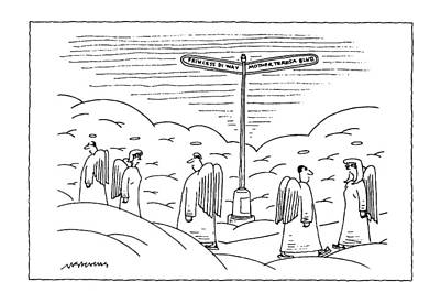 Heaven Drawing - New Yorker September 22nd, 1997 by Mick Stevens