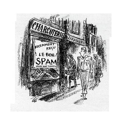 Food Stores Drawing - New Yorker September 23rd, 1944 by Alan Dunn
