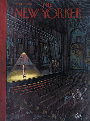 Audience Painting - New Yorker September 23rd, 1950 by Arthur Getz