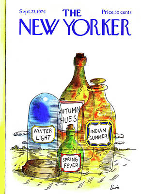 Perfume Bottles Painting - New Yorker September 23rd, 1974 by Jean-Claude Suares