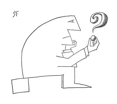 Philosophical Drawing - New Yorker September 24th, 1960 by Saul Steinberg