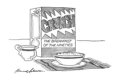 Breakfast Drawing - New Yorker September 24th, 1990 by Bernard Schoenbaum