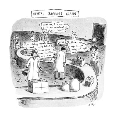 Mental Drawing - New Yorker September 24th, 1990 by Roz Chast