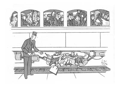 Transit Drawing - New Yorker September 25th, 1943 by George Price
