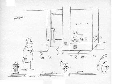 Symbolic Drawing - New Yorker September 25th, 1978 by Saul Steinberg