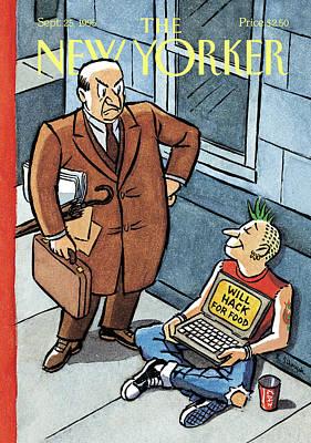 Homeless Painting - New Yorker September 25th, 1995 by R. Sikoryak
