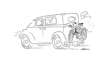 Bicycle Drawing - New Yorker September 26th, 1942 by  Alain