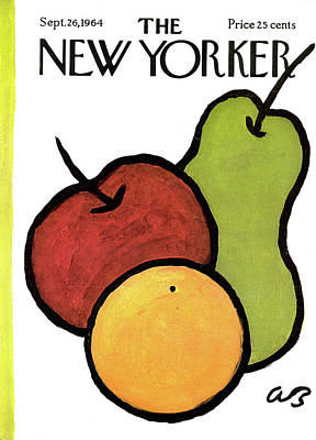 Food Painting - New Yorker September 26th, 1964 by Abe Birnbaum
