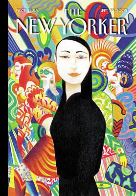 Fashion Painting - New Yorker September 26th, 2005 by Lorenzo Mattotti