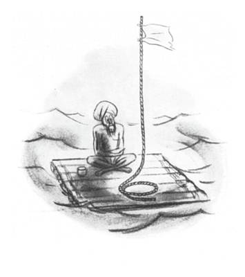 Lost At Sea Drawing - New Yorker September 27th, 1941 by Leonard Dove