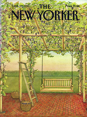 Grapes Painting - New Yorker September 27th, 1982 by Jenni Oliver