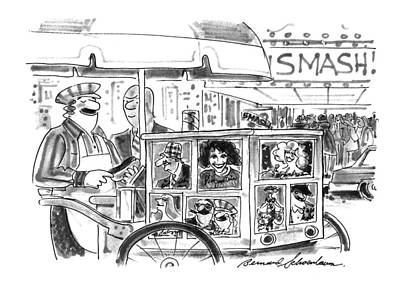 Hot Dogs Drawing - New Yorker September 27th, 1993 by Bernard Schoenbaum