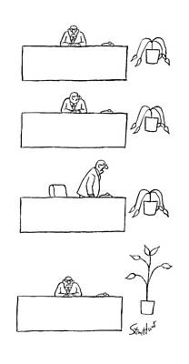Office Plants Drawing - New Yorker September 28th, 1987 by Stan Hunt