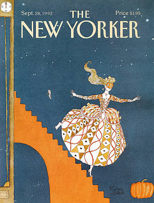 Fashion Painting - New Yorker September 28th, 1992 by Victoria Roberts