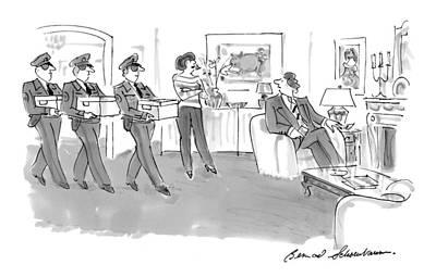 Delivering Drawing - New Yorker September 28th, 1998 by Bernard Schoenbaum