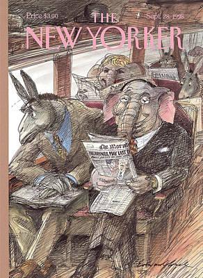 New Yorker September 28th, 1998 Art Print by Edward Sorel