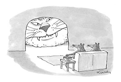 Snack Drawing - New Yorker September 28th, 1998 by Mike Twohy
