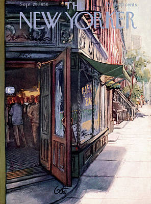 Street Store Painting - New Yorker September 29th, 1956 by Arthur Getz