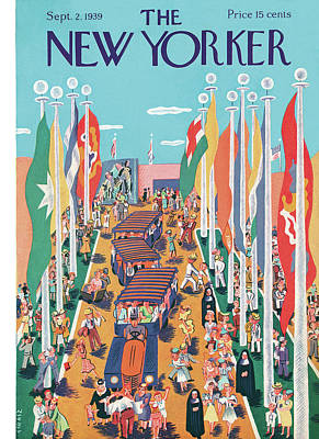 Flag Painting - New Yorker September 2nd, 1939 by Ilonka Karasz