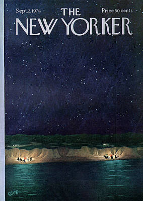 Party Painting - New Yorker September 2nd, 1974 by Charles E. Martin