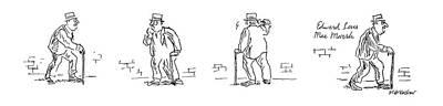 Cane Drawing - New Yorker September 2nd, 1974 by James Stevenson