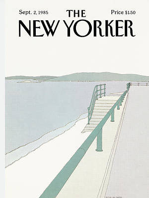 Simpson Painting - New Yorker September 2nd, 1985 by Gretchen Dow Simpson