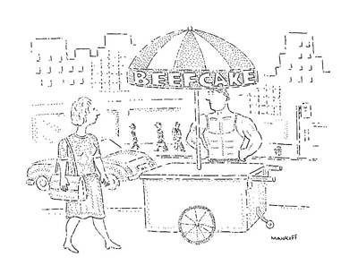 Street Drawing - New Yorker September 2nd, 1991 by Robert Mankoff