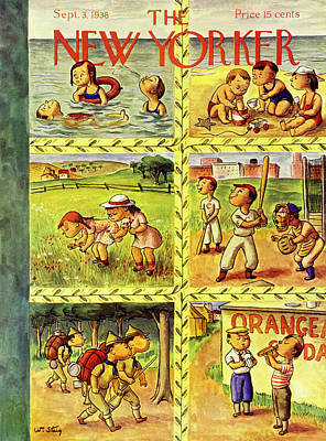 Sea Food Painting - New Yorker September 3 1938 by William Steig