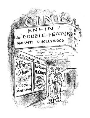 Chip Drawing - New Yorker September 30th, 1944 by Alan Dunn