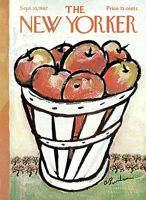 Apple Orchard Painting - New Yorker September 30th, 1967 by Abe Birnbaum