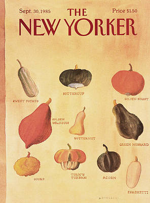 Autumn Painting - New Yorker September 30th, 1985 by Abel Quezada