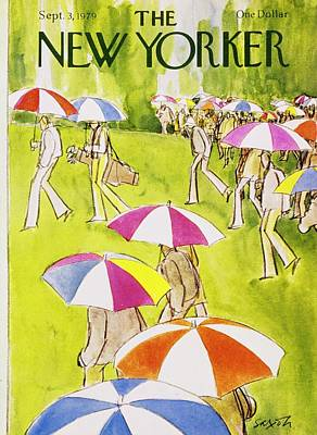 Golf Art Painting - New Yorker September 3rd 1979 by Charles D. Saxon