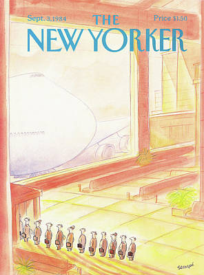 Terminal Painting - New Yorker September 3rd, 1984 by Jean-Jacques Sempe
