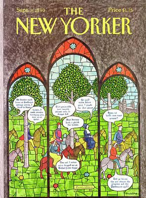 Depicting Painting - New Yorker September 3rd, 1990 by J.B. Handelsman