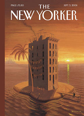 Tenement Painting - New Yorker September 3rd, 2001 by Eric Drooker