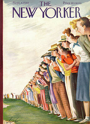 Golf Painting - New Yorker September 4th, 1948 by Constantin Alajalov