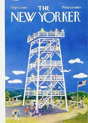 Flag Painting - New Yorker September 4th 1965 by Ilonka Karasz
