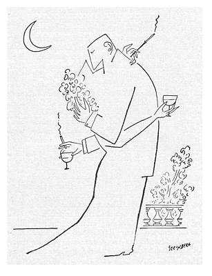 Glass Drawing - New Yorker September 5th, 1953 by Saul Steinberg